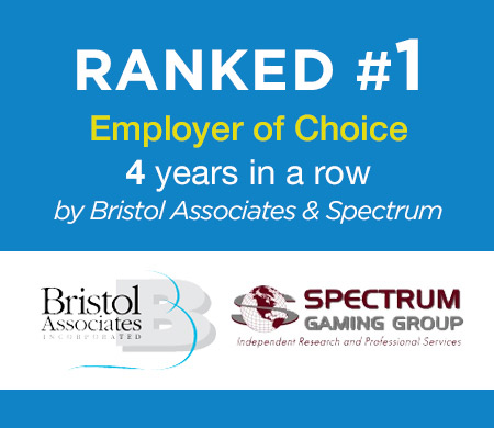 Ranked #1 Employer of Choice 3 years in a row by Bristol Associates & Spectrum